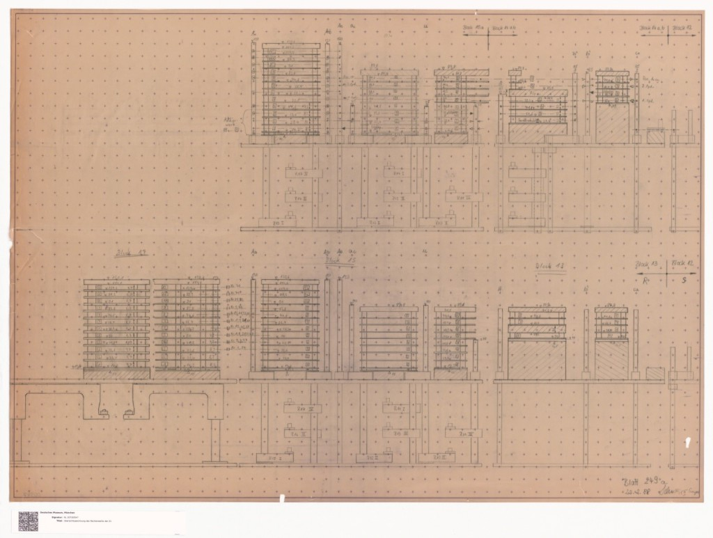 Fig. 12: A blueprint of the Z1 from the Z1 Archive
