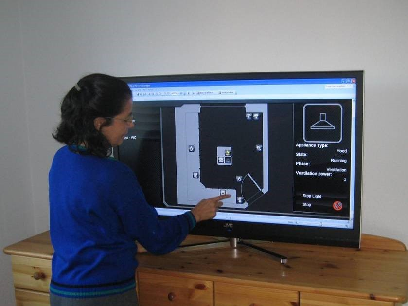 IQ150 can be controlled from any screen in the house.