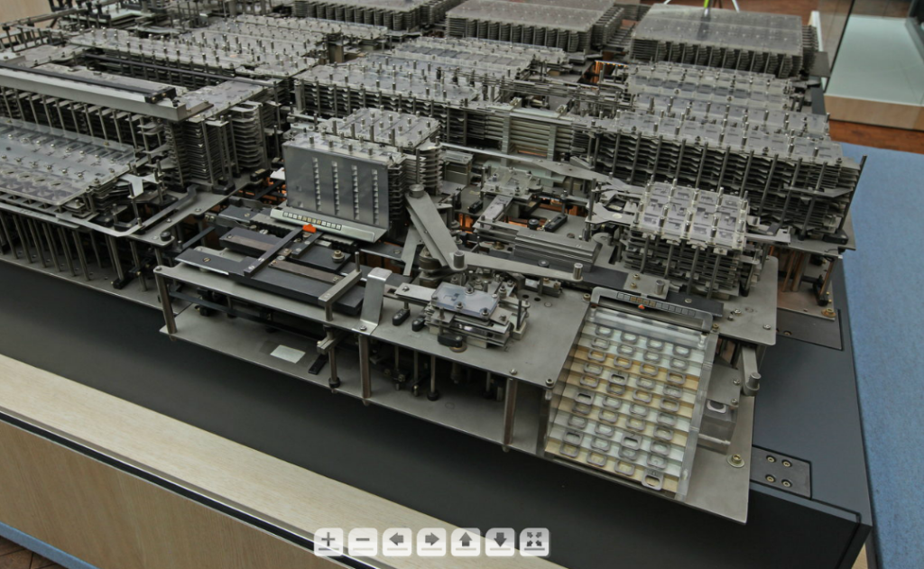 Fig. 5: Panorama of the Z1 showing the input console in the foreground