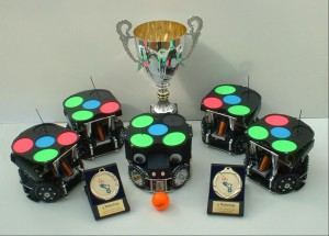 The FU-Fighters (small-size), world champions 2004 and 2005