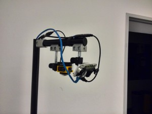 The new stereo camera mounted in our wheelchair